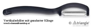 Vertikalschäler mit gezahnter Klinge