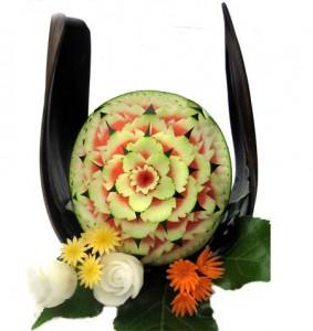 Nur Wassermelone (ohne Palmenblatt & Gemüse)