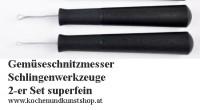 Gemüse Schnitzmesser, Schlingenwerkzeuge super fein 2-er Set