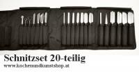 Angkanas Triangle Obst & Gemüseschnitzmesser Set  20-teilig 20-teilig in schwarzer Nylon Rolltasche