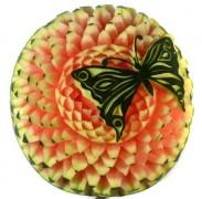 Wassermelonen Blüte mit Schmetterling