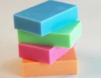 Schnitzseife: Gemischte Farben rechteckig  10 Stück