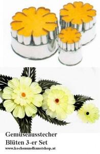 Gemüseausstecher, Blüten Ausstecher 3-er Set