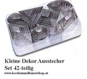 Deko Ausstecher Set 42-teilig