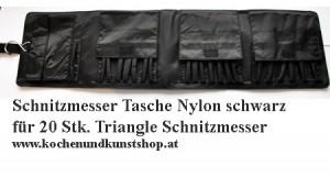 Black nylon bag for carving chisels