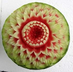 Wassermelone Blütenmotiv