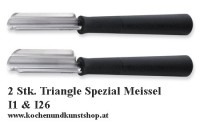 2 Stück Triangle Schnitzmesser Spezialmeissel I