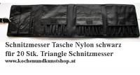 Schwarze Nylon Rolltasche für Triangle Schnitzmesser