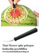 Triangle -  Thai Schnitzmesser spitz gebogen - beidseitig geschliffen